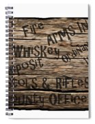 Big Whiskey Fire Arm Sign Spiral Notebook