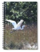 Big White Bird Flying Away Spiral Notebook