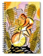 Bike And The City Spiral Notebook