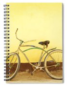 Bike And Yellow Wall Spiral Notebook