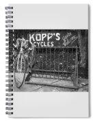 Bike At Kopp's Cycles Shop In Princeton Spiral Notebook
