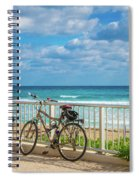 Bike Break At The Beach Spiral Notebook