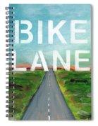 Bike Lane- Art By Linda Woods Spiral Notebook