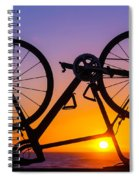 Bike On Seawall Spiral Notebook