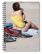 Bike On The Beach Spiral Notebook