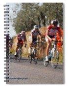 Bike Race Spiral Notebook