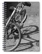 Bike Shadow Spiral Notebook