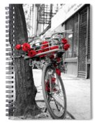 Bike With Red Roses Spiral Notebook
