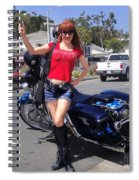 Biker Girl. Model Sofia Metal Queen Spiral Notebook