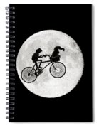 Biker Of The Moon Spiral Notebook