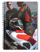 Bikers At The Horseshoe Pass Spiral Notebook