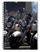 Bikes In Blue Spiral Notebook