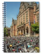 Bikes In Front Of Dutch University Spiral Notebook
