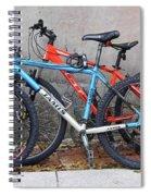Bikes Left Alone Spiral Notebook