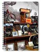 Bikes On A Wall Spiral Notebook