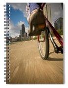 Biking Chicagos Lakefront Spiral Notebook