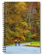 Biking On The Parkway Spiral Notebook
