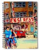 Biking  Past Ben Spiral Notebook