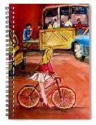 Biking To The Orange Julep Spiral Notebook