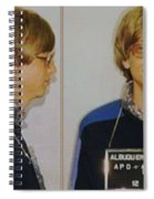 Bill Gates Mug Shot Horizontal Color Spiral Notebook