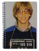 Bill Gates Mug Shot Vertical Color Spiral Notebook