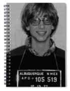 Bill Gates Mug Shot Vertical Black And White Spiral Notebook
