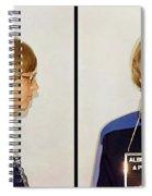 Bill Gates Post Impressionist Mugshot Spiral Notebook