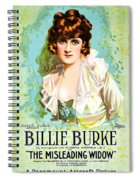 Billie Burke In The Misleading Widow 1919 Spiral Notebook