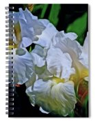 Billowing White Irises Spiral Notebook