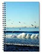 Billowing White Waves And Seagulls Spiral Notebook