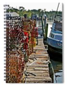 Billys Nets And Sinking Work Boat Spiral Notebook