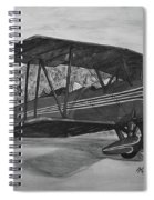 Biplane In Black And White Spiral Notebook