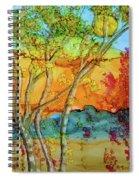 Birch And Liquid Amber Spiral Notebook