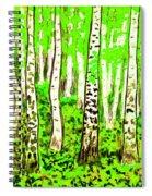 Birch Forest, Painting Spiral Notebook