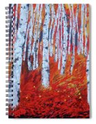 Birch In Gold Spiral Notebook