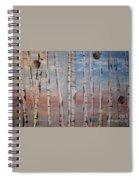 Birch Trees - Clouds Spiral Notebook