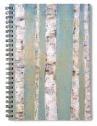 Blue Birch Trees Spiral Notebook