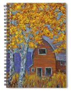 Birch Trees And Barn Spiral Notebook
