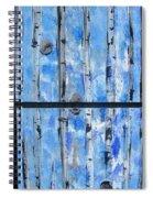 Birch Trees - Blue Spiral Notebook