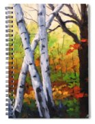 Birches 05 Spiral Notebook