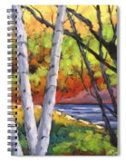 Birches 06 Spiral Notebook