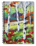 Birches 07 Spiral Notebook