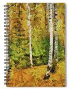 Birches And Spruces Spiral Notebook