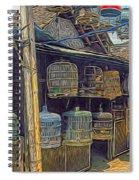 Bird Cages Vintage Photo Indonesia Spiral Notebook