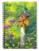 Bird House And Bluebird  Spiral Notebook