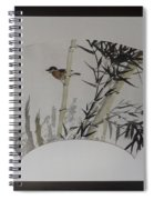 Bird In Bamboo- Fan Painting Spiral Notebook