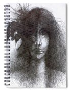 Bird In Hair  Spiral Notebook