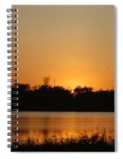 Bird In The Sunset Spiral Notebook