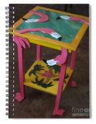 Barefootin' Table  Spiral Notebook