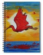 Bird Of Beauty, Loves Light In Flight Spiral Notebook